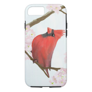 Red Cardinal Bird on a Cherry Blossom Tree iPhone 7 Case