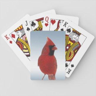 Red Cardinal Bird Playing Cards