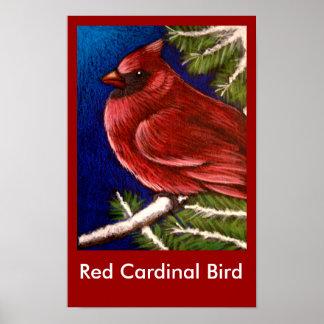 RED CARDINAL BIRD Poster