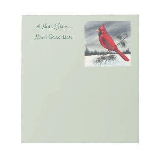 Red Cardinal Bird Right Notepad