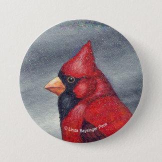 Red Cardinal Bird Round Button