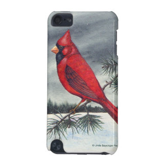 Red Cardinal Bird Snow iPod Touch 5G Cover