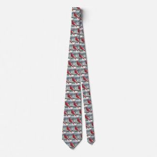 Red Cardinal Bird Tie