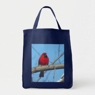 Red Cardinal/Bird Tote Bag