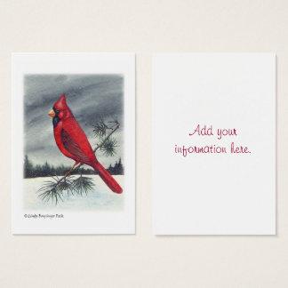 Red Cardinal Bird Watercolor Business Card