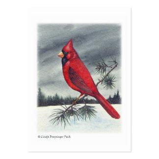 Red Cardinal Bird Watercolor Large Business Card