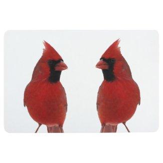 Red Cardinal Birds Animal Floor Mat