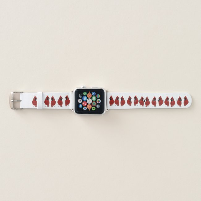 Red Cardinal Birds Apple Watch Band