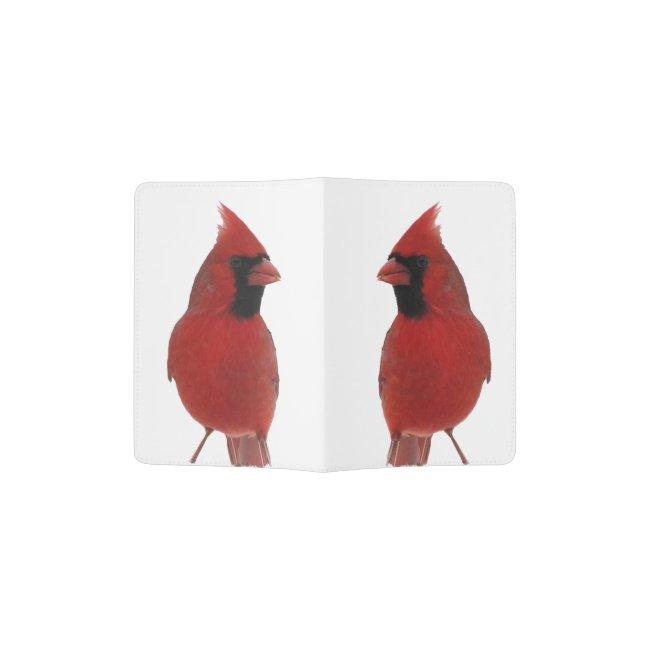 Red Cardinal Birds Passport Holder