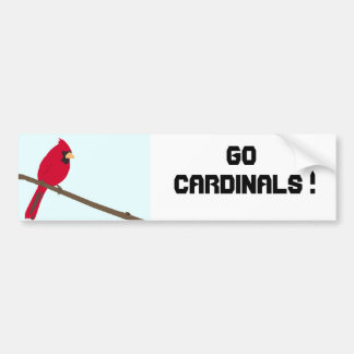 Red Cardinal Bumper Sticker