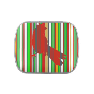 Red Cardinal Jelly Belly Candy Tins