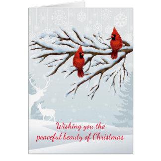 Red Cardinal Christmas Card