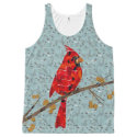 Red Cardinal Collage All-Over Print Tank Top