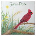 Red Cardinal - Customizable Tile