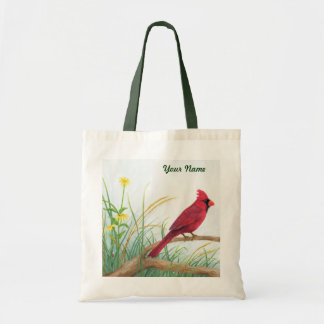 Red Cardinal - Customizable Tote Bag