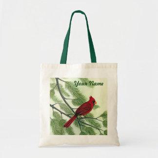 Red Cardinal - Customizable Tote Bag