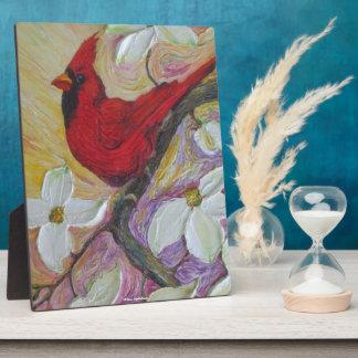Red Cardinal & Dogwood Plaque