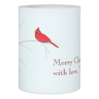 Red Cardinal Editable LED Candle