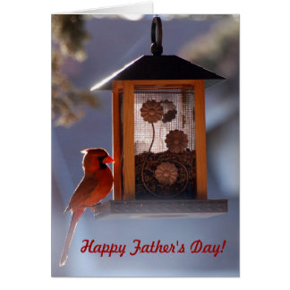 Red Cardinal Father's Day Card