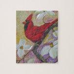 Red Cardinal Jigsaw Puzzle