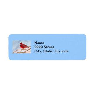 Red Cardinal Label