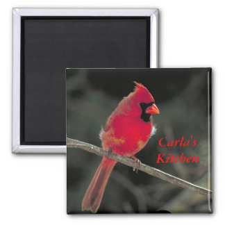 Red Cardinal Magnet