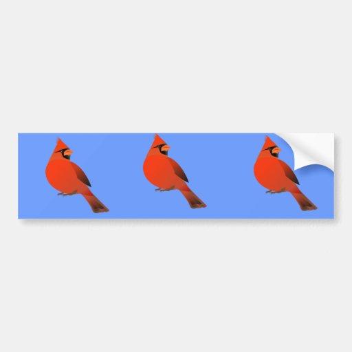 Red Cardinal Male Bird Bumper Sticker