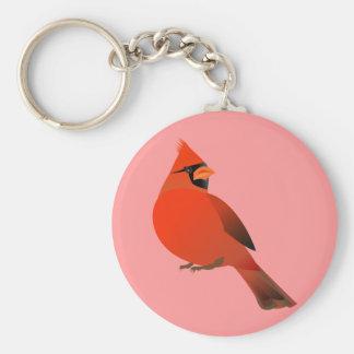Red Cardinal Male Bird Keychain