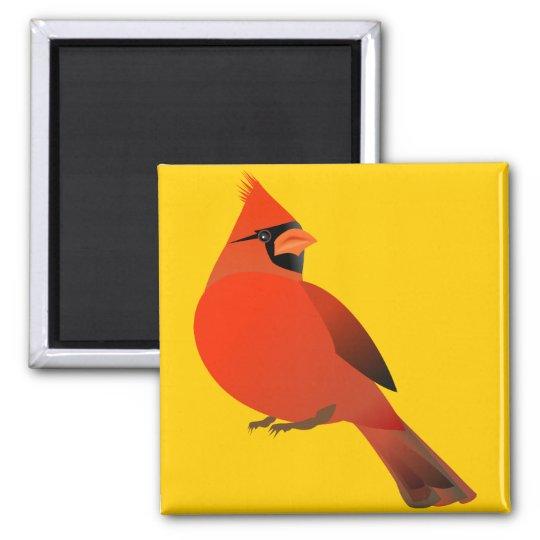 Red Cardinal Male Bird Magnet