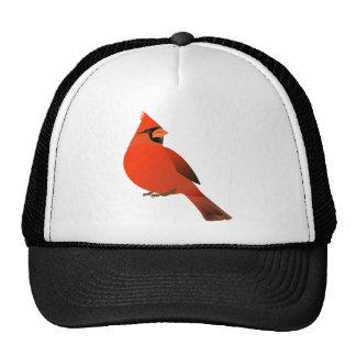 Red Cardinal Male Bird Trucker Hat