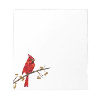 Red Cardinal Mosaic Notepad