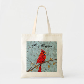 Red Cardinal Mosaic Tote Bag
