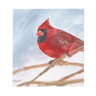 Red Cardinal Notepad
