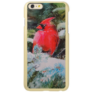 Red Cardinal on Snowy Bough Incipio Feather Shine iPhone 6 Plus Case