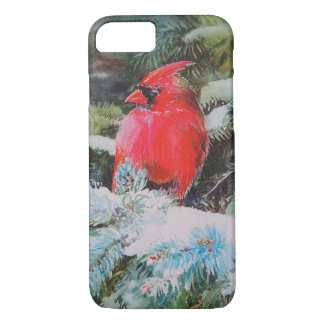 Red Cardinal on Snowy Bough iPhone 8/7 Case