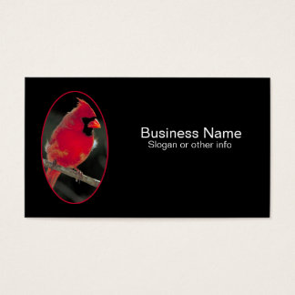 Red Cardinal Perched on a Tree Branch Business Card