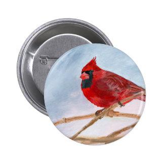 Red Cardinal Pinback Button