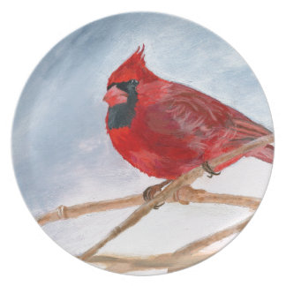 Red Cardinal Plate