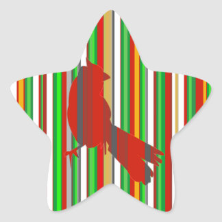 Red Cardinal Star Stickers