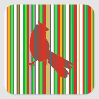 Red Cardinal Square Stickers