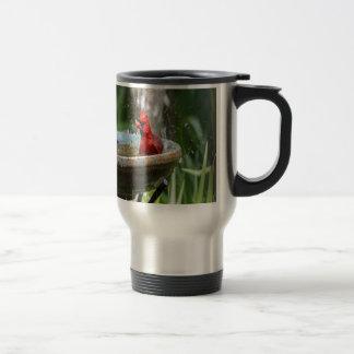 red cardinal travel mug