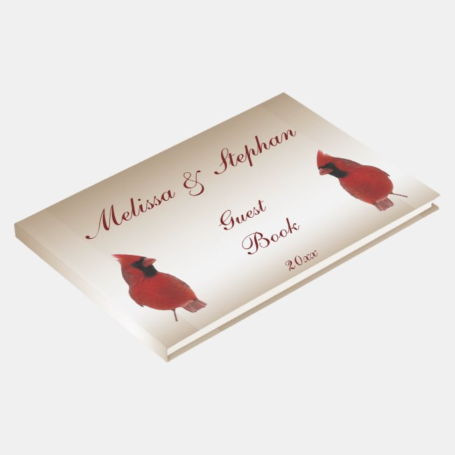 Red Cardinal Wedding Guest Book