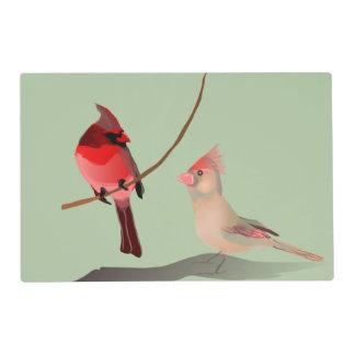 Red Cardinal Winter Birds Placemat