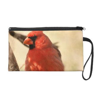 Red Cardinal  Wristlet