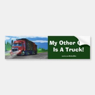 Red Cargo Lorry Truckers Bumper Sticker Series