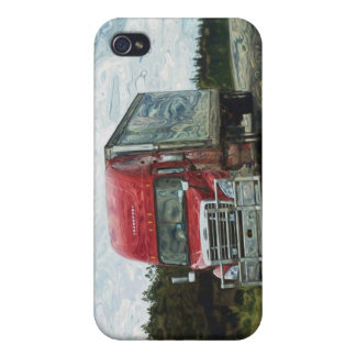 Red Cargo Transporter Truckers iPhone Case