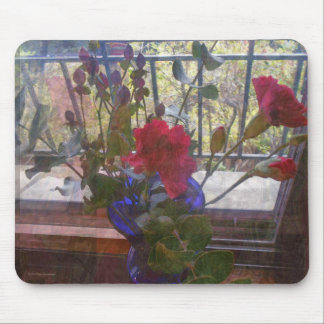 Red Carnation and Vase Mouse Pad