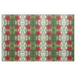 Red Carnation Floral Patterned Fabric