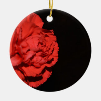 Red Carnation Flowers Blossoms Destiny Love Peace Christmas Tree Ornaments