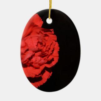 Red Carnation Flowers Blossoms Destiny Love Peace Christmas Ornament